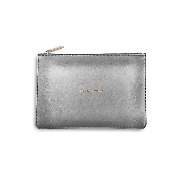 Katie Loxton Perfect Pouch - Magical Moments (Metallic Charcoal)