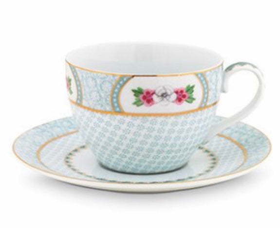 PiP Studio Blushing Birds Cappuccino Cup & Saucer - White