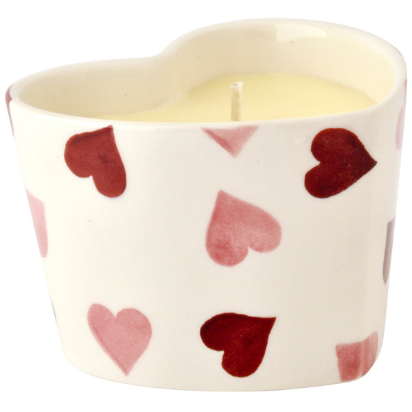 Emma Bridgewater Pink Hearts Heart Candle
