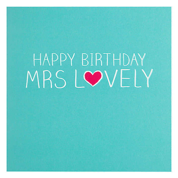 Happy Jackson Card - Happy Birthday Mrs Lovely