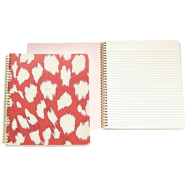 Kate Spade New York Large Spiral Notebook - Painterly Cheetah