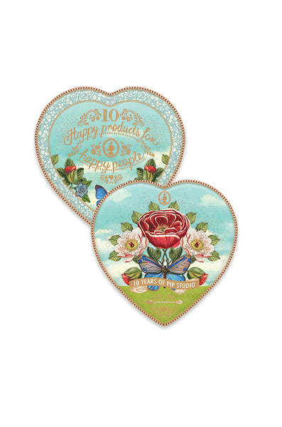 Pip Studio Limited Edition 10 Year Anniversary Set of 2 Heart Plates