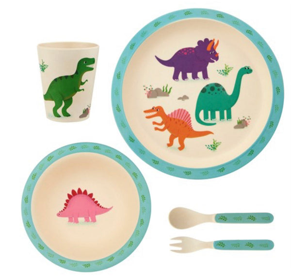 Roarsome Dinosaurs Bamboo Children's Dining Set