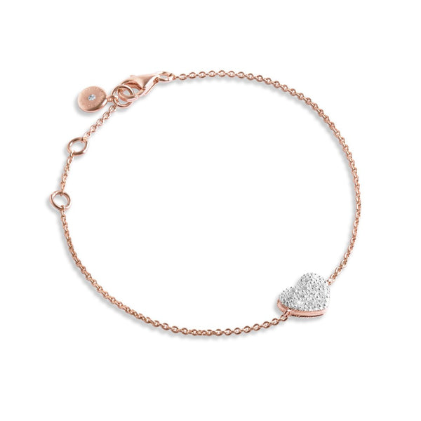 Forever Joma The Fine Collection Rose Gold Heart Bracelet