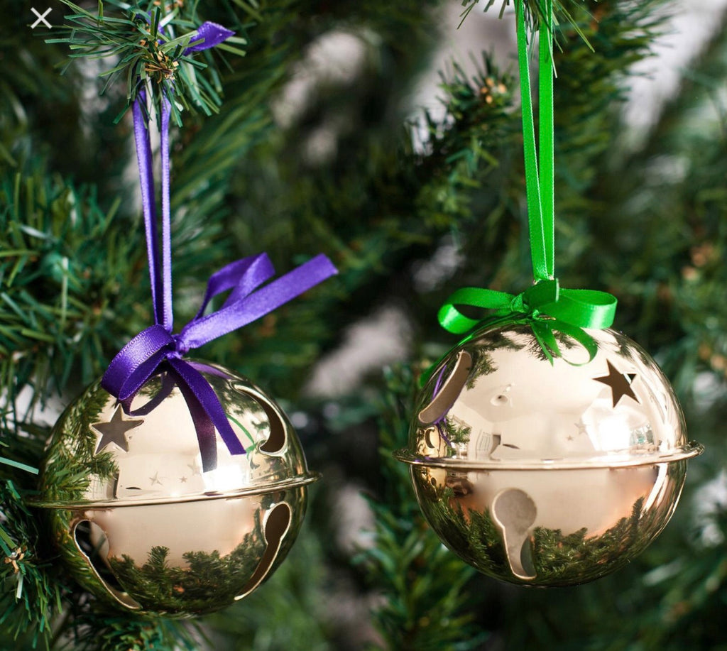 Sleigh Bells (set of two) Gold