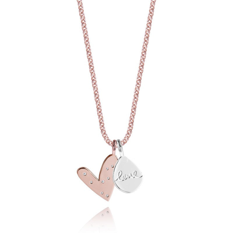 Joma Jewellery Life's A Charm Necklace - Love