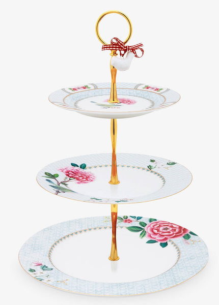 PiP Studio Blushing Birds 3-Tier Cake Stand - White