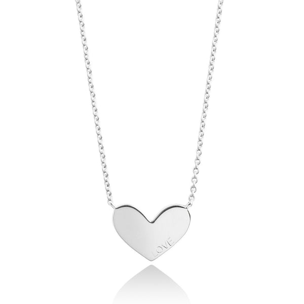 Forever Joma The Line Collection Silver Heart Necklace