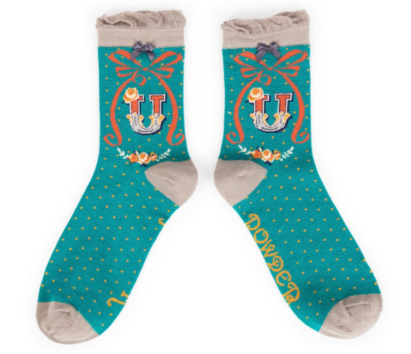 Powder A-Z Socks - U