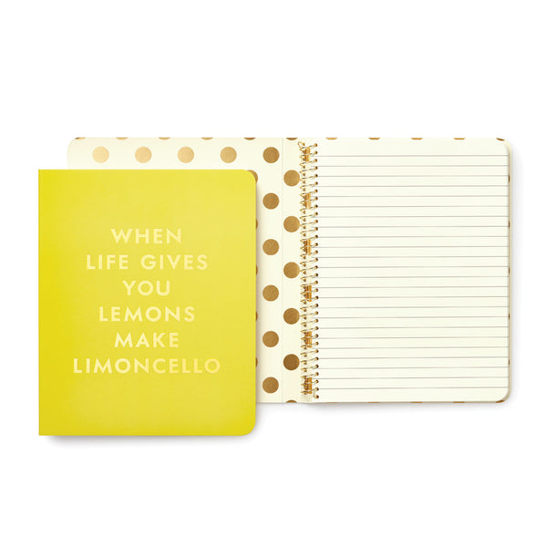 Kate Spade New York Concealed Spiral Notebook - Limoncello