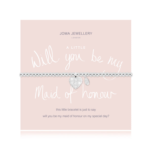 Joma Jewellery A Little Will You Be My Maid of Honour Bracelet