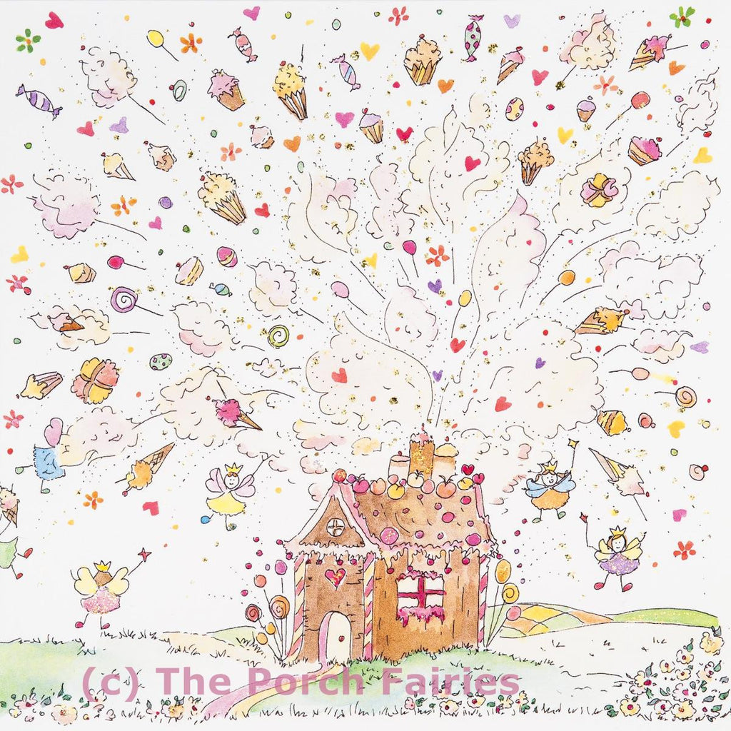 The Porch Fairies Card - 'Gingerbread House'