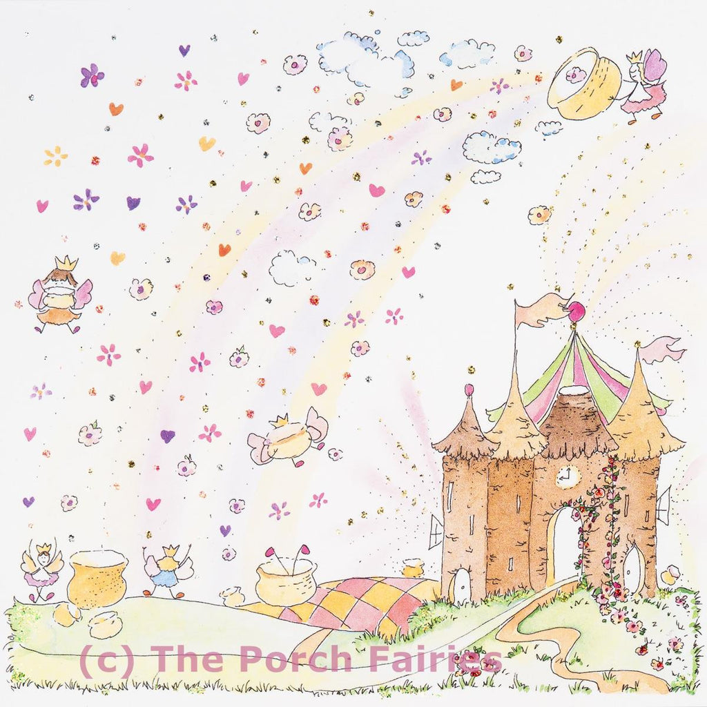 The Porch Fairies Card - 'Rainbow Pots'