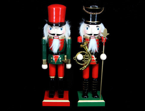 Small Wooden Nutcracker Christmas Ornament