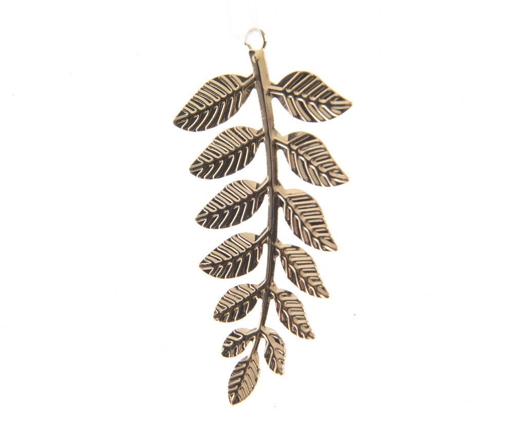 Gold Iron Leaf Tree Decoration
