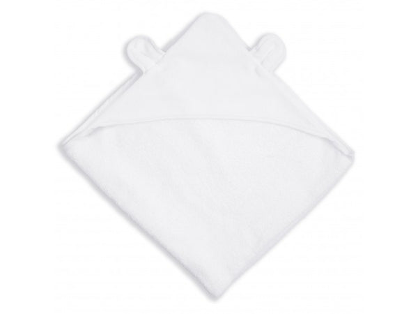 Katie Loxton Bear Hooded Baby Towel - Soft White