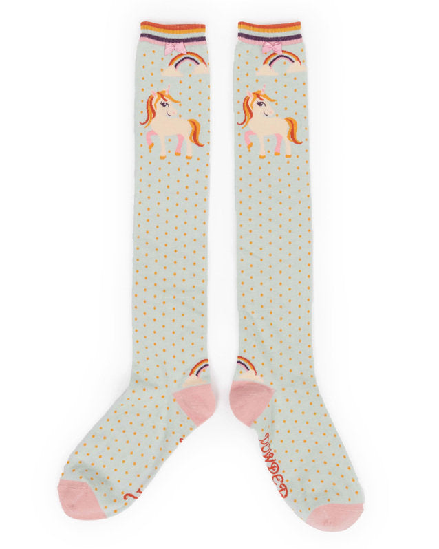 Powder Unicorn Knee High Socks