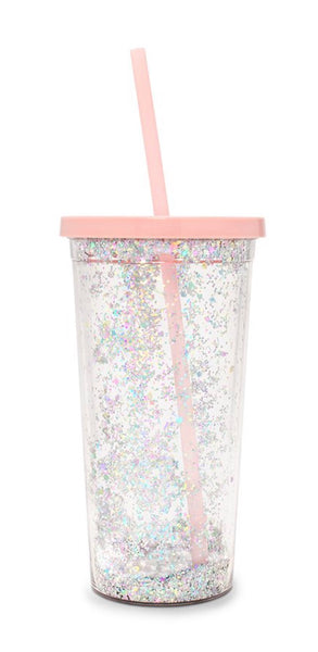 Ban.do Sip Sip Tumbler With Straw - Delux Glitter
