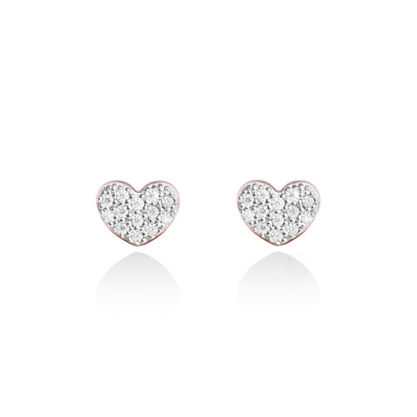 Forever Joma The Fine Collection Rose Gold Heart Stud Earrings