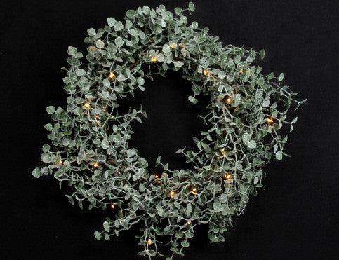 Frosted Eucalyptus LED Wreath