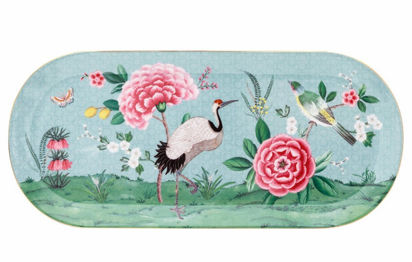 PiP Studio Blushing Birds Rectangle Cake Tray - Blue