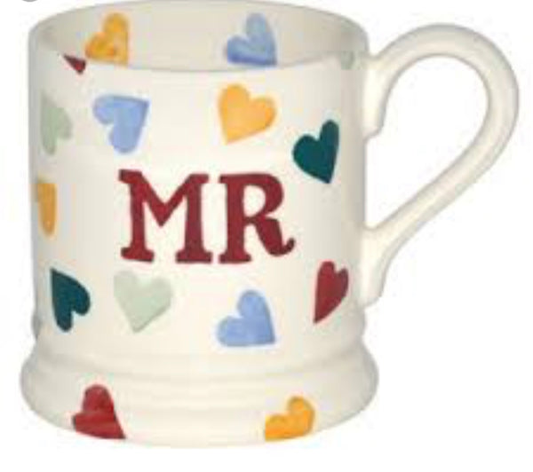 Emma Bridgewater Polka Hearts Mr Mug