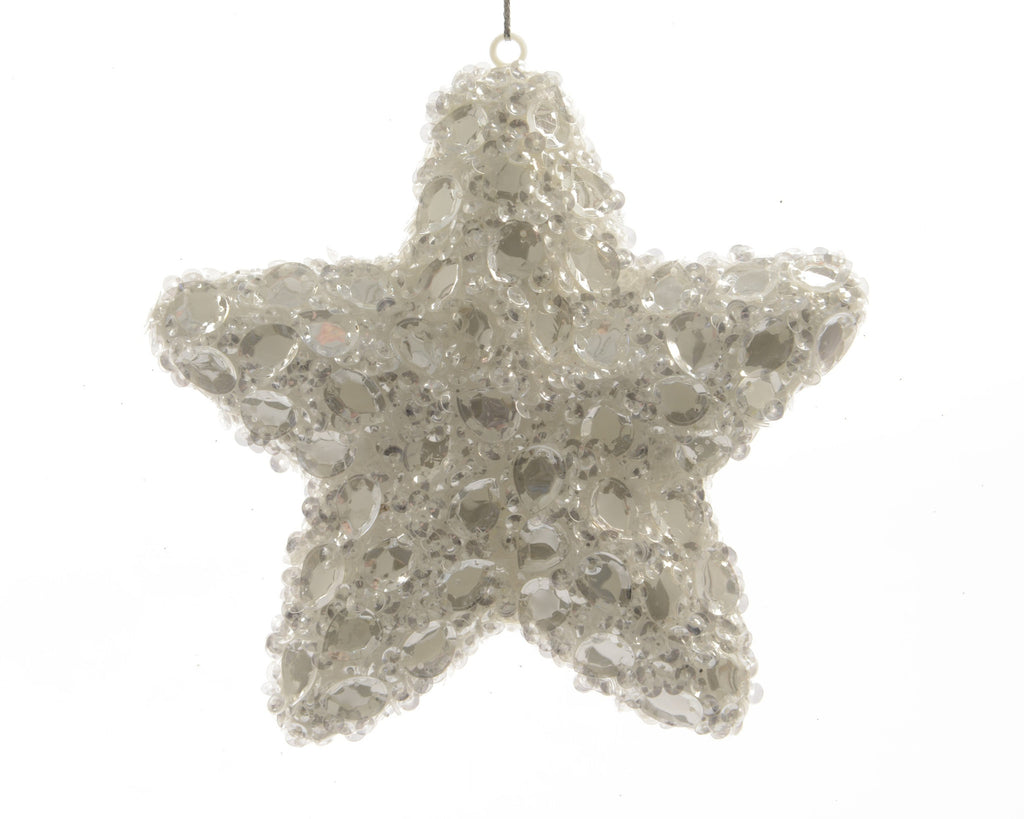 Star with Sequins Tree Decoration