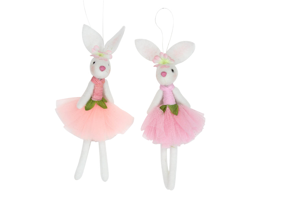 Gisela Graham Wool Mix Ballerina Bunny