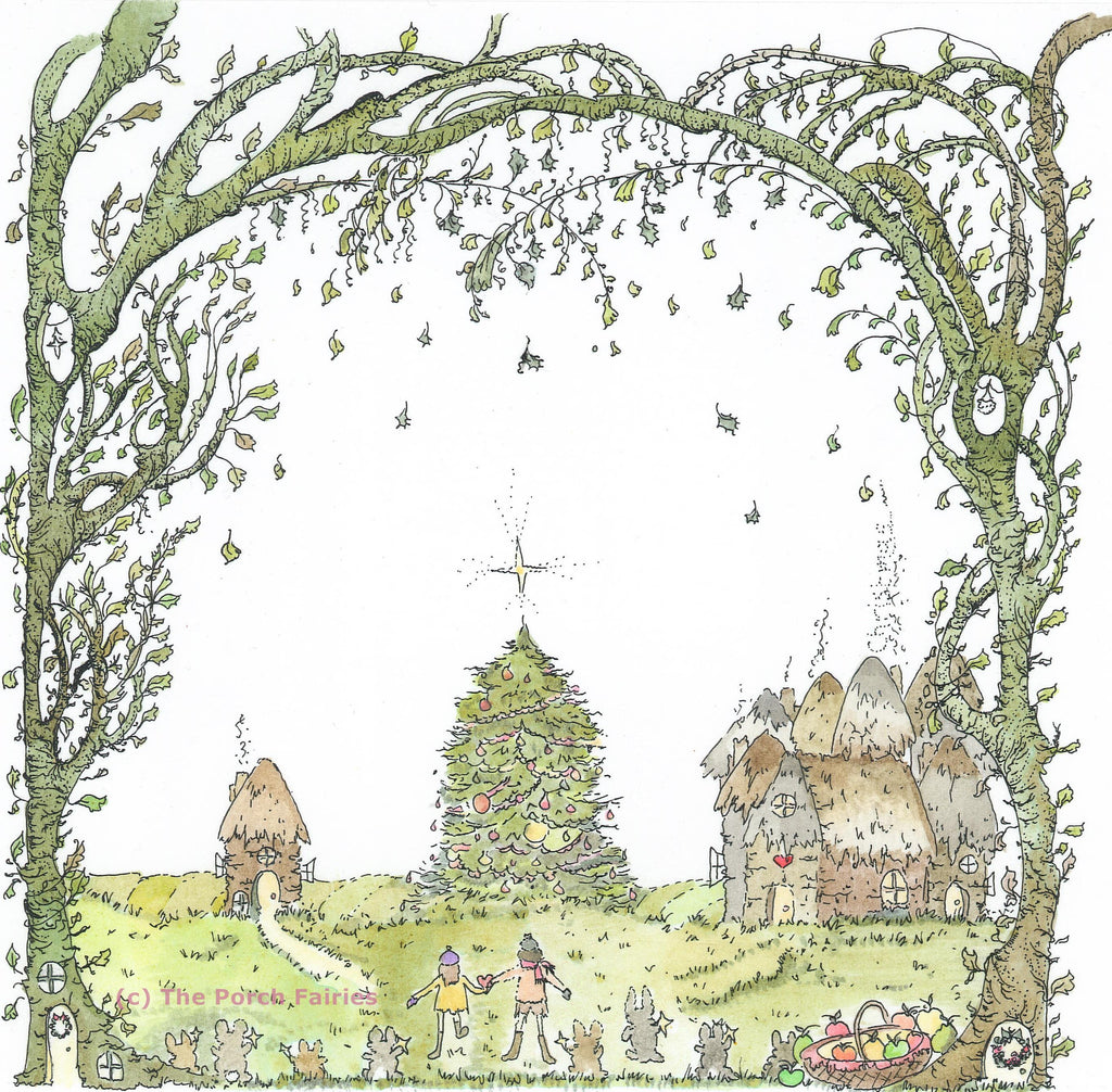The Porch Fairies Christmas Card - 'We Found Christmas'