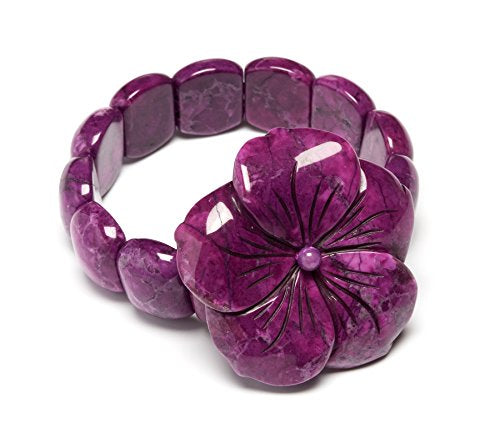 Lola Rose Annalise Flower Bracelet - Purple Magnesite