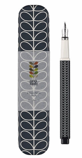 Orla Kiely Linear Stem Navy Fountain Pen