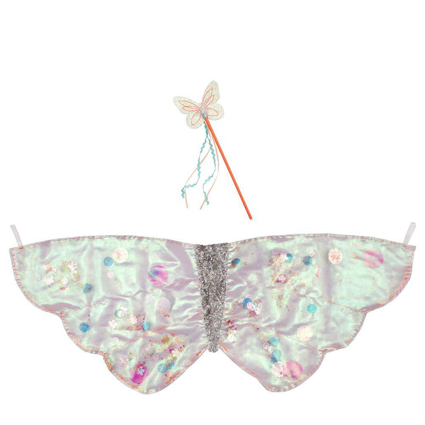 Meri Meri Sequin Butterfly Wings & Wand