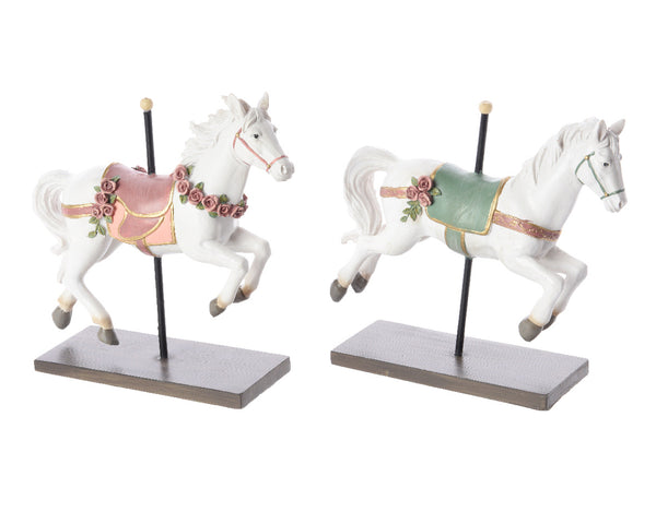 Carousel Horse Standing Decoration - Pink/Blue