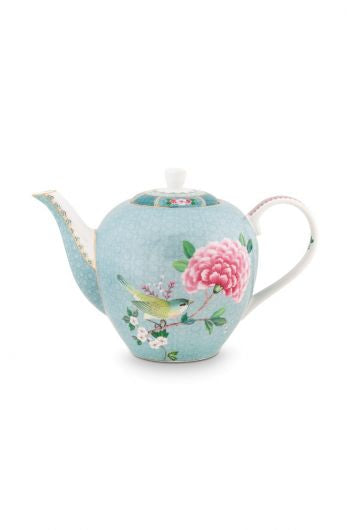 Pip Studio Blushing Birds Large Teapot - Blue