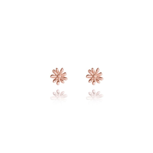 Joma Jewellery Daisy Stud Earrings - Rose Gold
