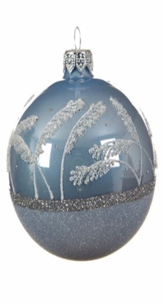 Blue Mist & Glitter Bauble