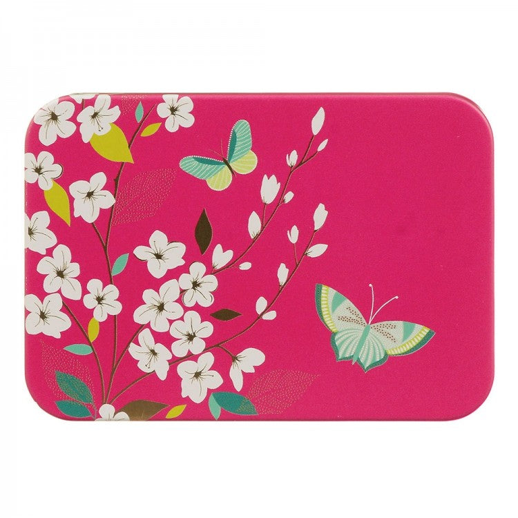 Sara Miller Pink Butterfly Pocket Tin
