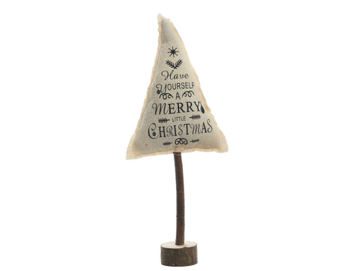 'Have Yourself a Merry Little Christmas' Fabric Tree Standing Decoration