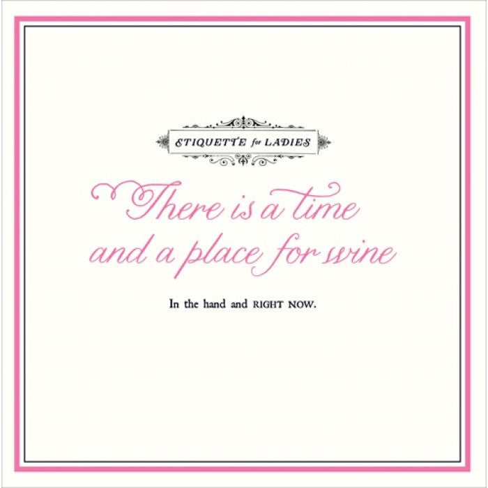 Alice Scott Greetings Card - Time & Place For Wine