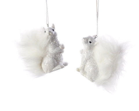 White Squirrel Christmas Tree Decoration