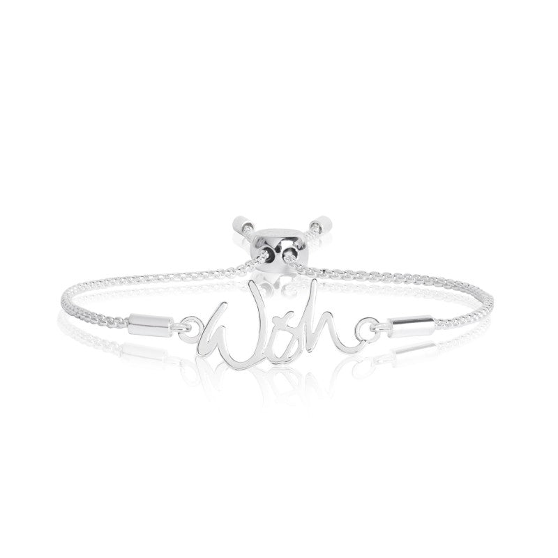 Joma Jewellery Sentiment Message Bracelet - Wish
