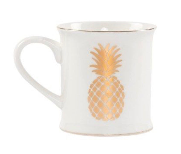 Sass & Belle Monochrome Pineapple Mug