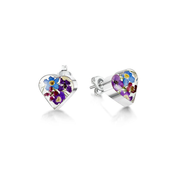 Shrieking Violet Purple Haze Heart Stud Earrings