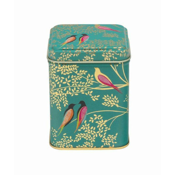 Sara Miller Green Birds Square Tin