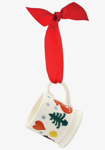 Emma Bridgewater Christmas Brights Tiny Mug Decoration (Boxed)