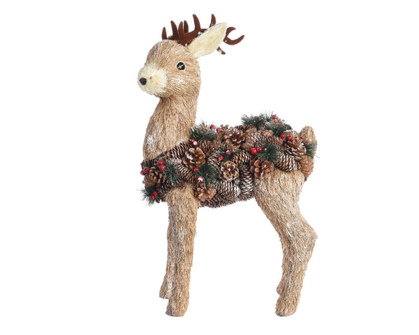 Large Christmas Deer Standing Decoration