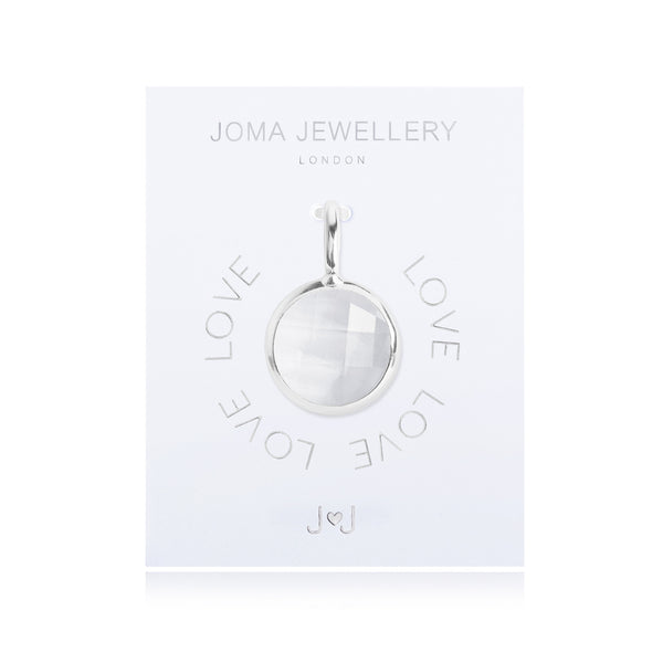 Joma Jewellery My Joma Charm - Clear Crystal