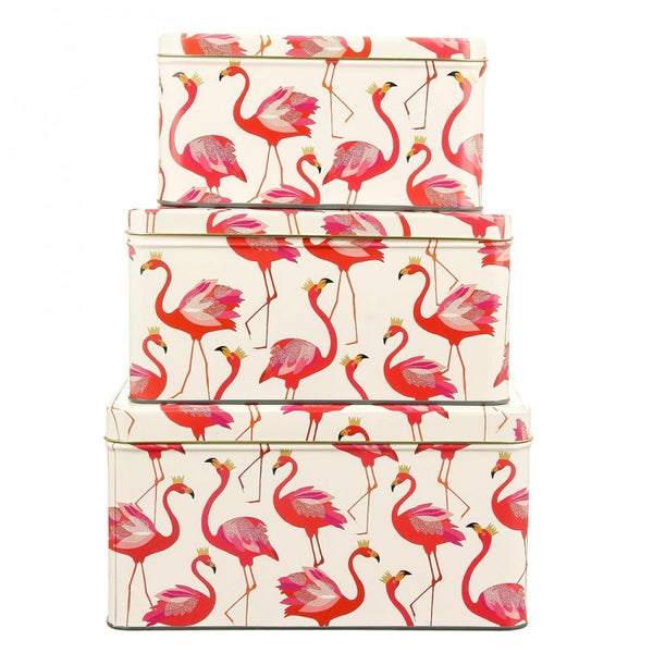 Sara Miller Flamingo Set of 3 Cake Tins