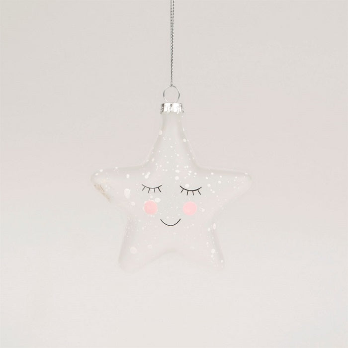 Sass & Belle Sweet Dreams Speckled Star Christmas Tree Decoration