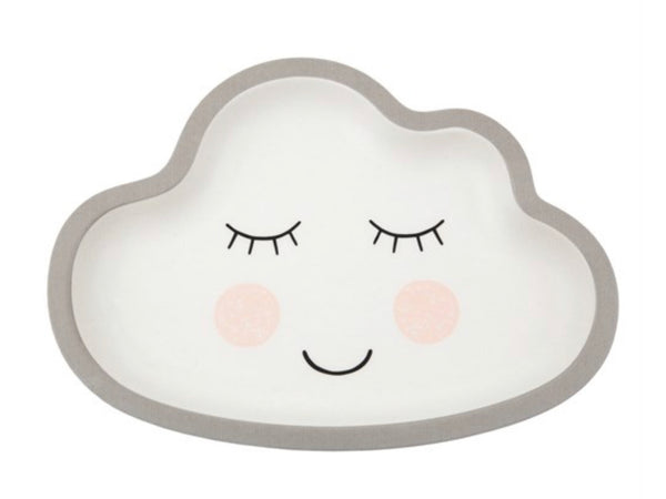Sweet Dreams Smiling Cloud Bamboo Kid's Plate